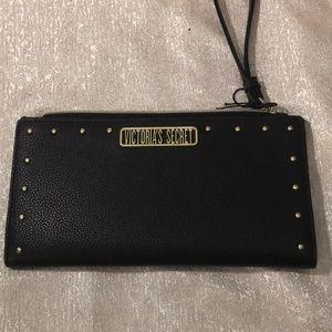 Victoria Secret wallet black with gold accents